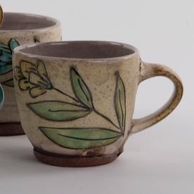 """Maria Dondero Maria Dondero, Cup, earthenware, 2.75"""""""