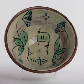 "Maria Dondero Maria Dondero, Bowl, earthenware, 6.25"""
