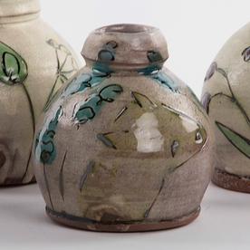 "Maria Dondero Maria Dondero, Bud Vase, earthenware, 3.5"""