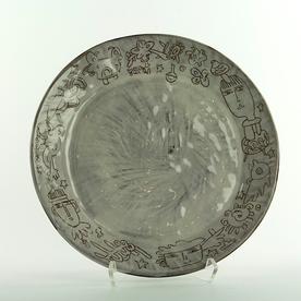 """Yeonsoo Kim Yeonsoo Kim, Plate, stoneware, 10.75"""""""