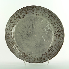"""Yeonsoo Kim Yeonsoo Kim, Plate, stoneware, 11"""""""