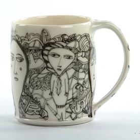 "Yeonsoo Kim Yeonsoo Kim, Mug, porcelain, 4 x 4.5 x 3.25"""