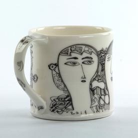"Yeonsoo Kim Yeonsoo Kim, Mug, porcelain, 3.5 x 4.5 x 3.25"""