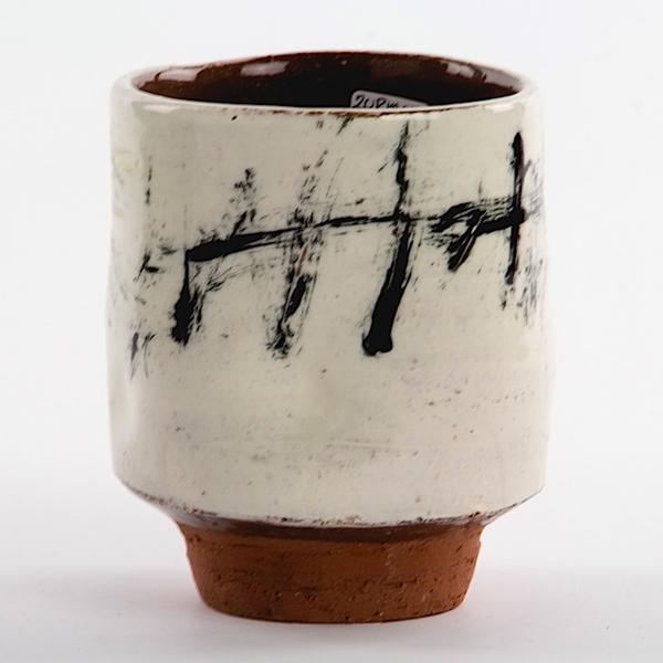 "Ron Meyers Ron Meyers, Yunomi w/Bird, earthenware, 3.25 x 3"""