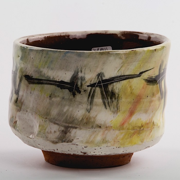 """Ron Meyers Ron Meyers, Teabowl w/Cat, earthenware, 3.75 x 4.5"""""""