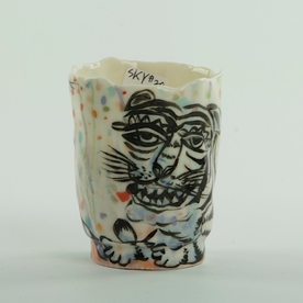 Sunkoo Yuh Sunkoo Yuh, Tiger Cup, handbuilt translucent porcelain