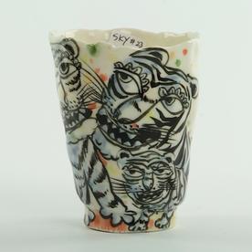 Sunkoo Yuh Sunkoo Yuh, Tiger Cup, handbuilt translucent porcelain