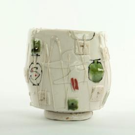 "Ted Saupe Ted Saupe, Cup, handbuilt porcelain, 4"""