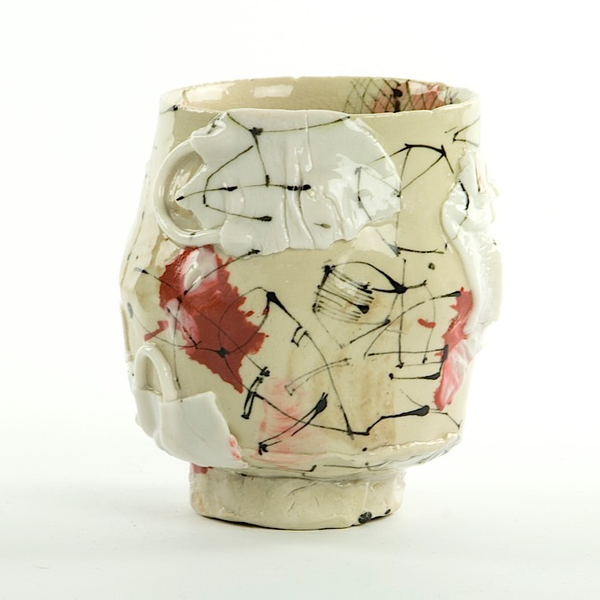 Ted Saupe Ted Saupe, Cup, handbuilt porcelain, 4""