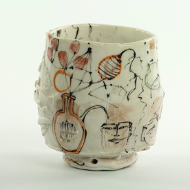 Ted Saupe Ted Saupe, Cup, handbuilt porcelain, 4.25""