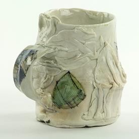 """Ted Saupe Ted Saupe, Small Mug, handbuilt porcelain, 3.75"""""""