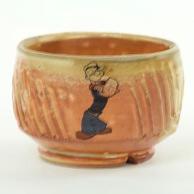 """Dan Anderson Dan Anderson, Yunomi, stoneware, woodfired, 3 x 4 1/4"""""""
