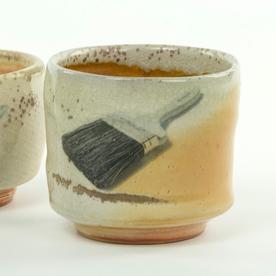 """Dan Anderson Dan Anderson, Yunomi, stoneware, woodfired,  1/4 x 3 3/4"""""""