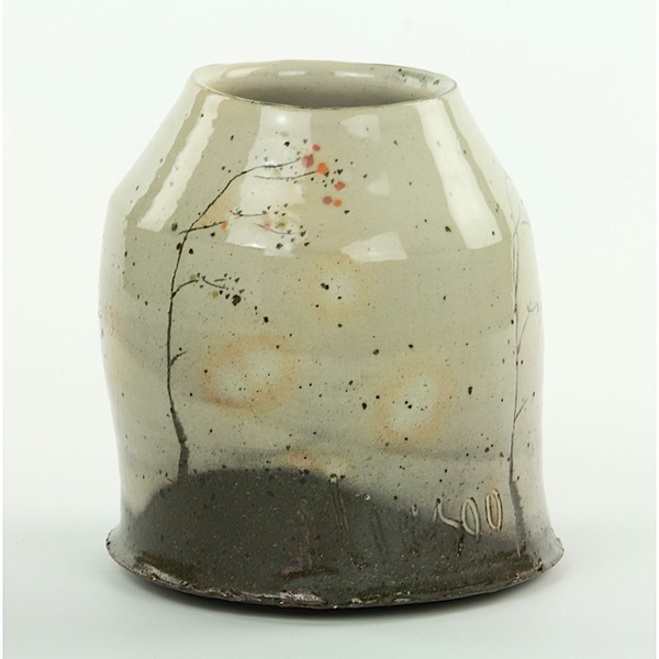 "Minsoo Yuh Minsoo Yuh, Vase, stoneware, 5.5 x 5.5"""