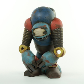 "Michael Klapthor Michael Klapthor, Therapy Robot (Sympathy Mode), stoneware, glaze, 13x9x7"""