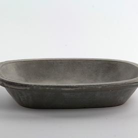 "Joe Pintz Joe Pintz, Medium Deep Plate, handbuilt earthenware8.25 x 6.5 x 1.5"""