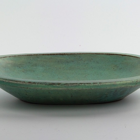 "Joe Pintz Joe Pintz, Medium Oval Dish, handbuilt earthenware, 9.25 x 6.25 x 1.5"""