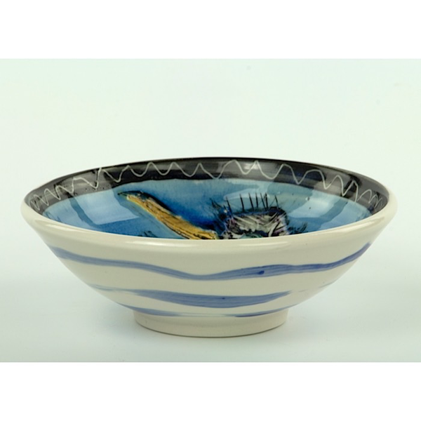 "Bernadette Curran Bernadette Curran, Small Bowl, porcelain, 3.25 x 6.25"""