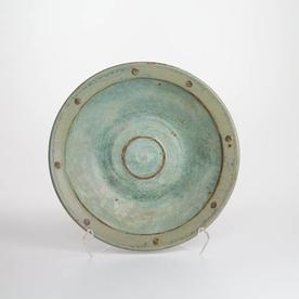 """Shawn Ireland Shawn Ireland, Big Bowl, handbuilt, wood-fired, ash glaze, 3.5 x 15.5"""""""