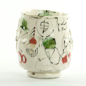 Ted Saupe Ted Saupe, Cup, handbuilt porcelain, 4.5""