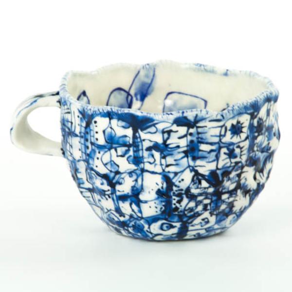 "KB Lim, Butterfly Mug, porcelain, 3 x 4"""