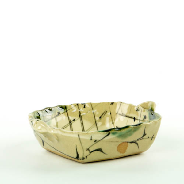 Betsy Williams Betsy Williams, Square Oribe-Style Dish, 2 x 6 x 5""
