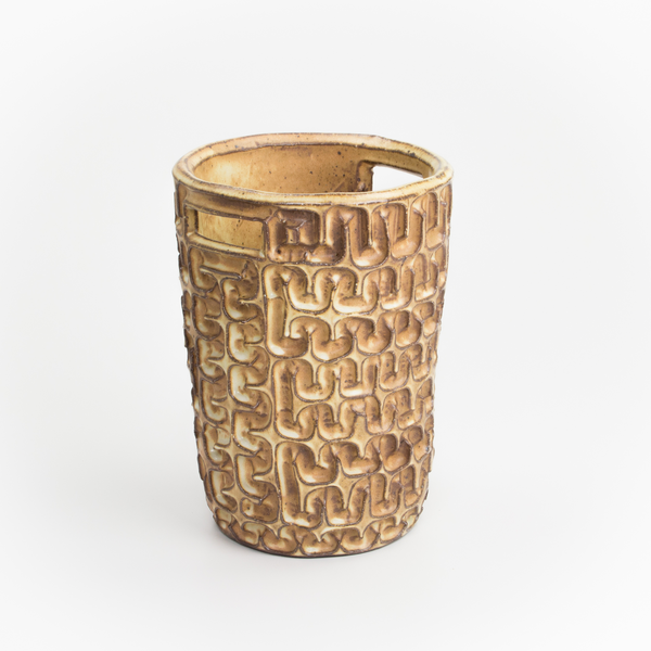 Courtney Martin Courtney Martin, Tan Medium Basket, stoneware, 10.5 x 7.75""