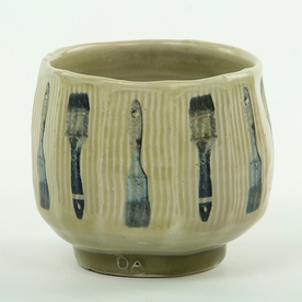 """Dan Anderson SOLD Dan Anderson, Yunomi, stoneware, sodafired, 3 3/8 x 3 7/8"""""""