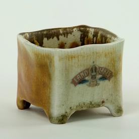 "Dan Anderson SOLD Dan Anderson, Salt Container, stoneware, woodfired, 2 3/8 x 3"""