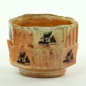 """Dan Anderson SOLD Dan Anderson, Yunomi stoneware, woodfired, 2 5/8 x 3 1/4"""""""