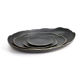"Kate Tremel Kate Tremel, Nesting Platter Set, porcelain, 3.5 x 24 x 18"""