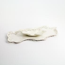 "Kate Tremel Kate Tremel, Platter & Bowl Set, porcelain, 18 x 10"""