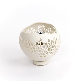 "Kate Tremel Kate Tremel, Small Pierced Lamp, porcelain, 5.5 x 6.5"""