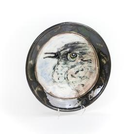 "Ron Meyers Ron Meyers, Small Plate w/Bird, 1.5 x 10"""