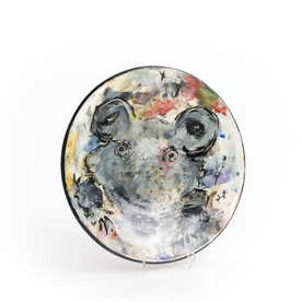 """Ron Meyers Ron Meyers, Large Plate w/ Rat, 1.75 x 11.75"""""""