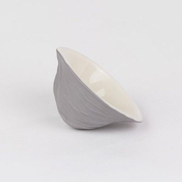 """Rachel Garceau, Walnut Shell Salt Cellar,  Porcelain, glaze, 1.25 x 2.25 x 2"""""""