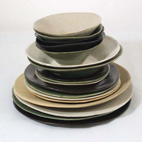 "Joan Platt, Sand Dessert Bowl, sand/stoneware, glaze, 6"" dia,Care: dishwasher, microwave safe"