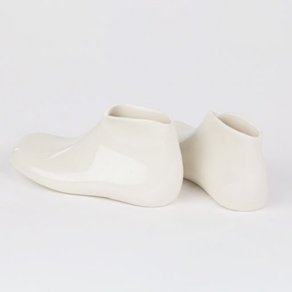 """Rachel Garceau, Shoes,  Porcelain, glaze, 2 x 1.5 x 4.5"""""""