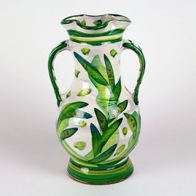 """Stanley Mace Andersen Stan Andersen, Large Vase earthenware, majolica, 14"""""""