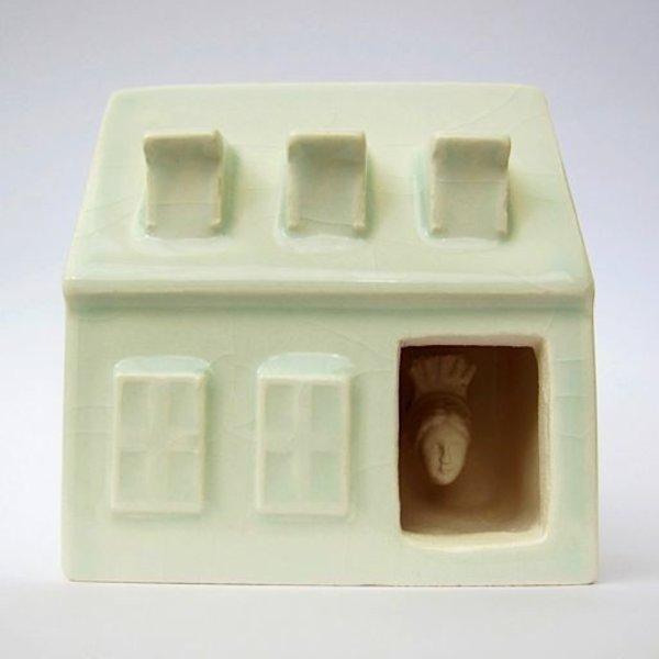 """Irianna Kanellopoulou, Open House IV, ceramic, glaze, 2.125 x 2 x 1.25"""""""
