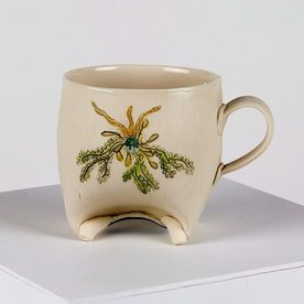 Annette Gates Annette Gates, Rolled Foot Mug; Coral image, 4 x 3 x 3