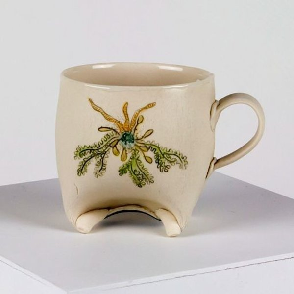 Annette Gates Annette Gates, Rolled Foot Mug; Coral image, 4 x 3 x 3