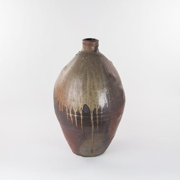 Rob Barnard, Large Bottle, wood-fired, 19 x 10.5""