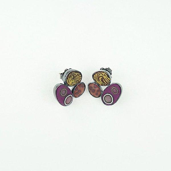 Ford & Forlano, Triple Pebble earrings