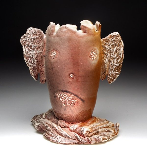 """Andy Nasisse, Little Ghost Vase,  7.5 x 6.5 x 5"""""""