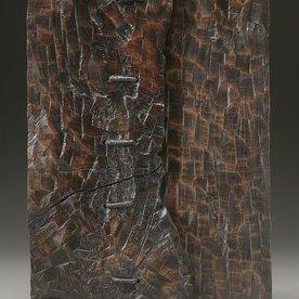"George Peterson George Peterson, Metaphor, walnut, waxed linen, 26 x 17 x 3"""