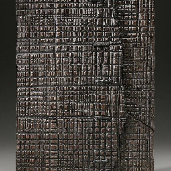 George Peterson George Peterson, Metaphor, walnut, waxed linen, 26 x 17 x 3""