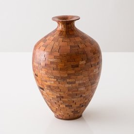 Richard Haining Richard Haining, Stacked Urn, reclaimed mahogany , hand shaped, 10 x 7""
