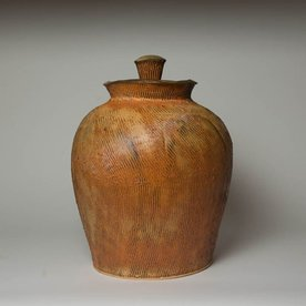 Matt Kelleher Matt Kelleher, Jar, soda-fired earthenware, 16.75 x 12""