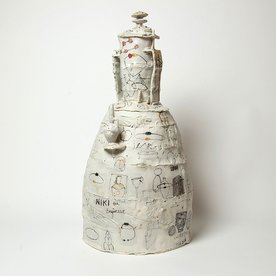 Ted Saupe Ted Saupe, History of . . ., porcelain, 21.25 x 6.5 x 5""